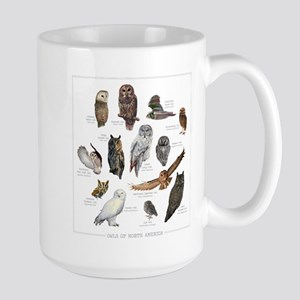 Owls of North America Large Mug